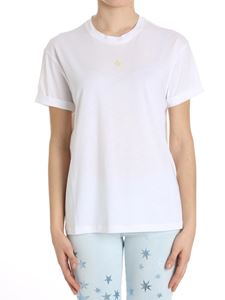 Stella McCartney - White T-shirt with embroidered yellow star
