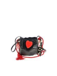 Philosophy di Lorenzo Serafini - Leather bag with black and red heart