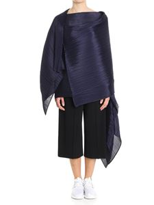 PLEATS PLEASE Issey Miyake - Blue Colorful Madame-T pleated cape