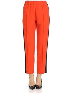 Barena - Orange trousers with blue inserts