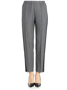 Barena - Gray trousers with blue inserts