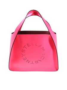 Stella McCartney - Neon pink tote bag with pierced logo