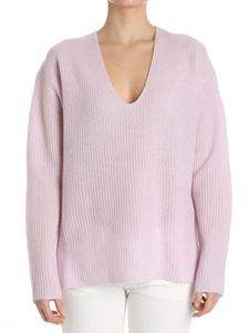 360 Cashmere - Lilac V-neck sweater