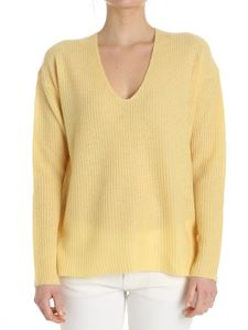 360 Cashmere - Yellow V-neck sweater