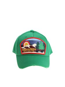 Dsquared2 - Green hat with Camp Area patch