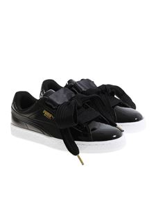 Puma - Basket Heart Patent Wn's sneakers with bow