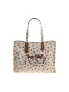 Coach - Tote bag with logo and floral print