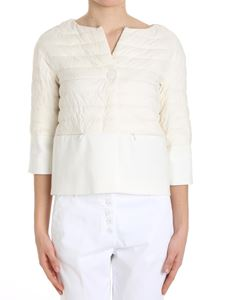 Herno - White padded jacket with three-quarter sleeves
