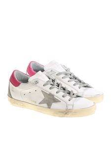 Golden Goose Deluxe Brand - White and pink Superstar sneakers