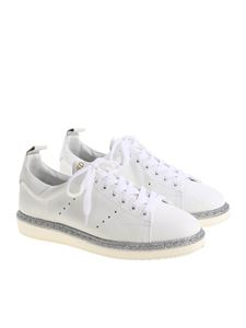 Golden Goose Deluxe Brand - Starter sneakers with silver glitter
