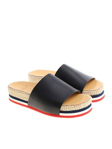 Moncler - Evelyne sliders with rope insert