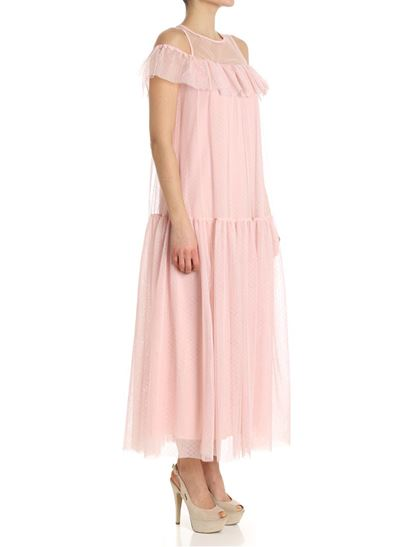 Pink dress with open shoulders Blugirl Outlet Best Store To Get zwbxdcf