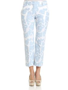 True Royal - White and light-blue Sandy trousers